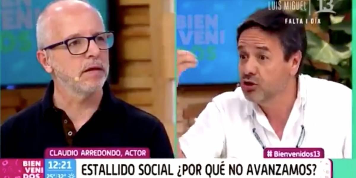 """""""Están disparándole a los estudiantes"""": Claudio Arredondo irrumpió en """"Bienvenidos"""" y encaró en vivo a Alberto Plaza"""