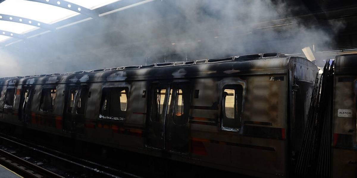 Carabineros y Fiscalía Sur anunciaron detención de un hombre implicado en el incendio de estación La Granja