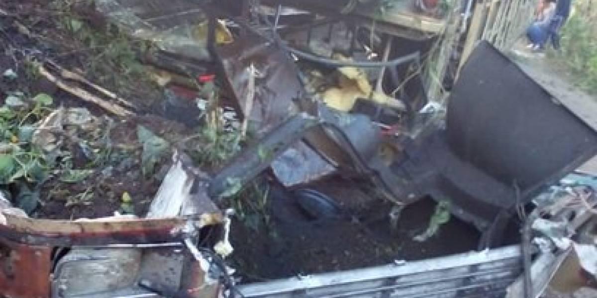 Al menos 15 heridos por accidente de bus en Amatitlán