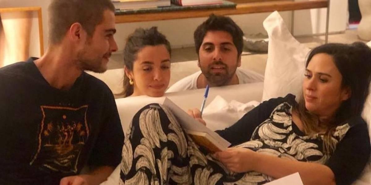 Tatá Werneck revela que se casou com Rafael Vitti deitada no sofá