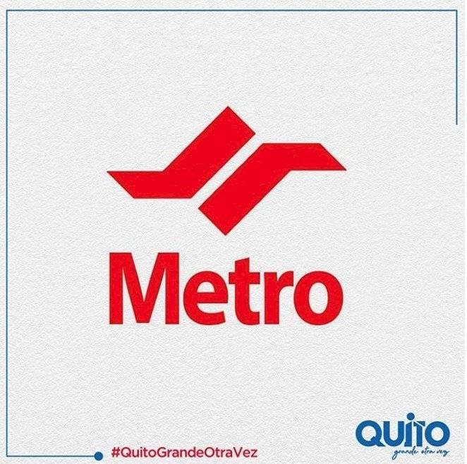 Actual logo del Metro de Quito