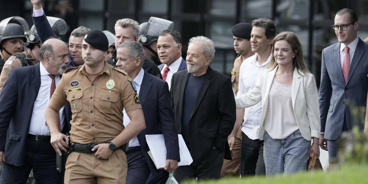 Líderes de izquierda celebran liberación de Lula da Silva