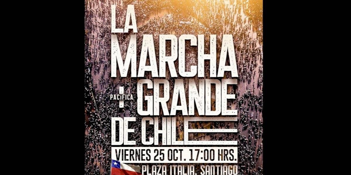 """La historia del afiche de """"La marcha pacífica más grande de Chile"""""""