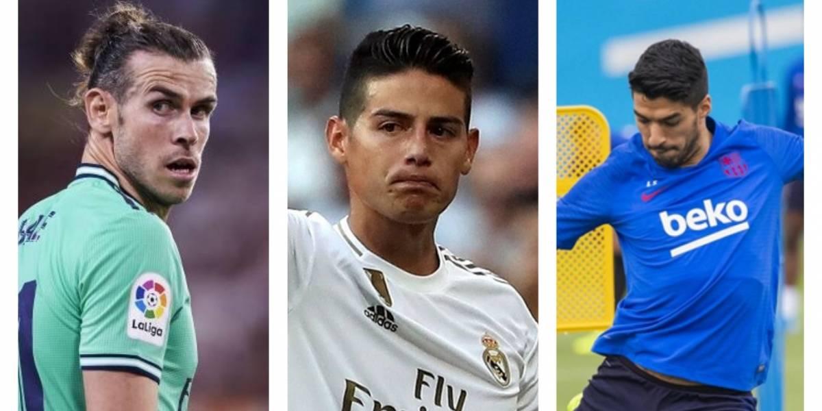 La Liga: Real sin Bale y James; Luis Suárez regresa con el Barça