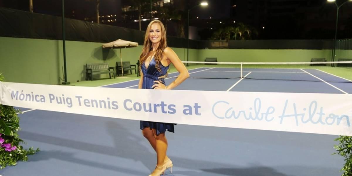 Mónica Puig tiene su propia cancha en el Caribe Hilton