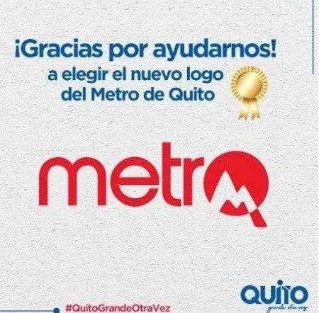 Segundo logo del Metro de Quito
