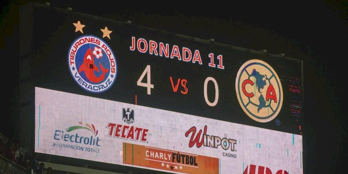 La última vez que Veracruz derrotó al América en Liga MX