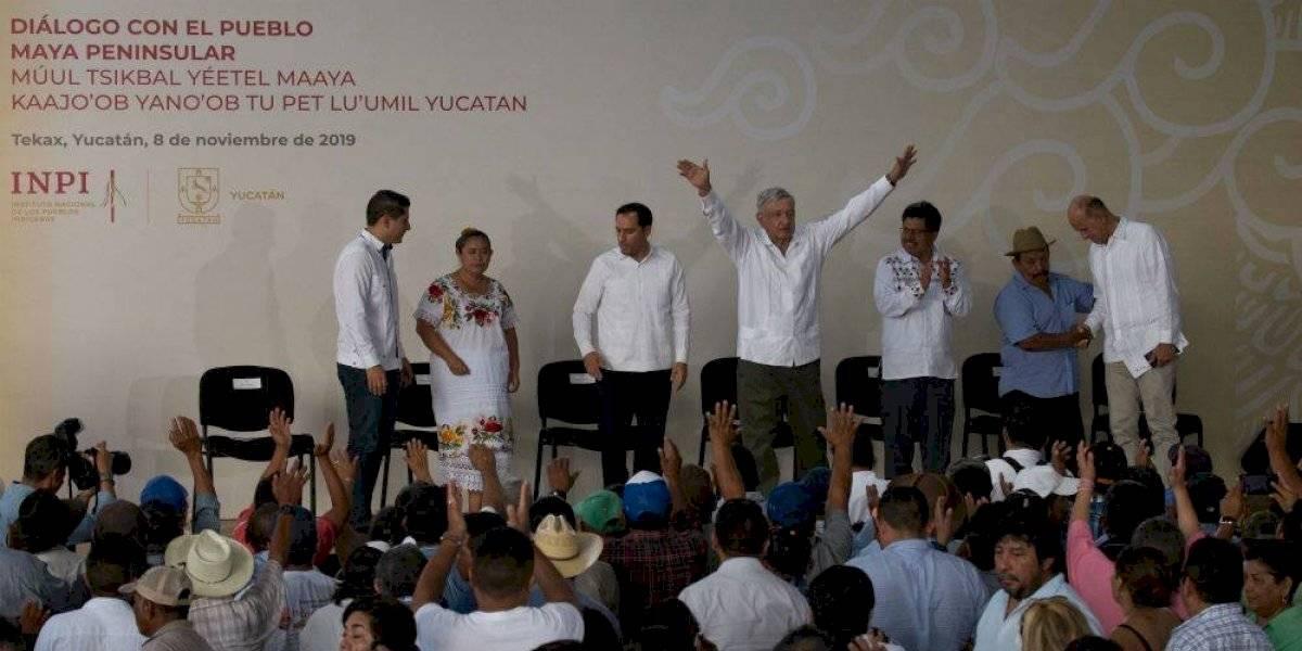 Indígenas de Yucatán piden a AMLO ser consultados sobre Tren Maya