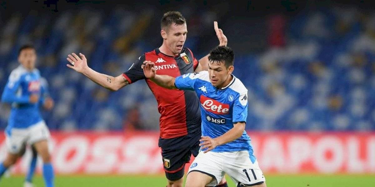 Napoli, con Lozano, sigue sin responder y empata con el Génova