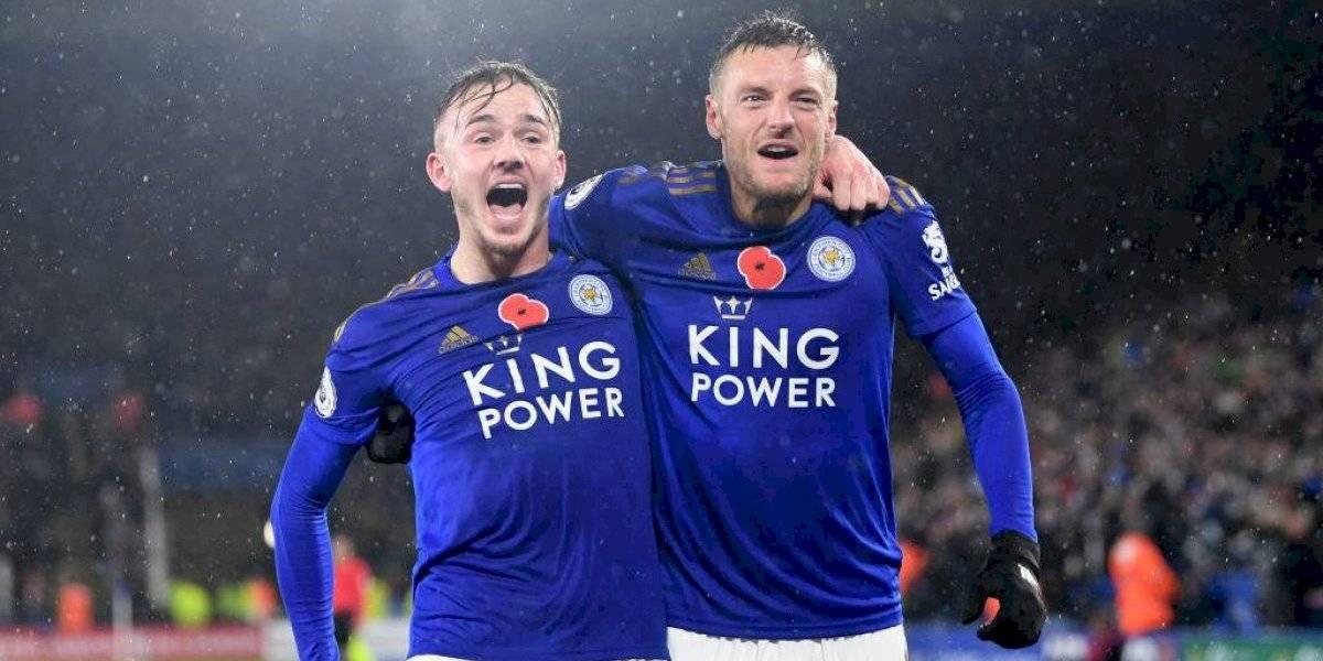 Leicester vence al Arsenal y está segundo en la Premier League
