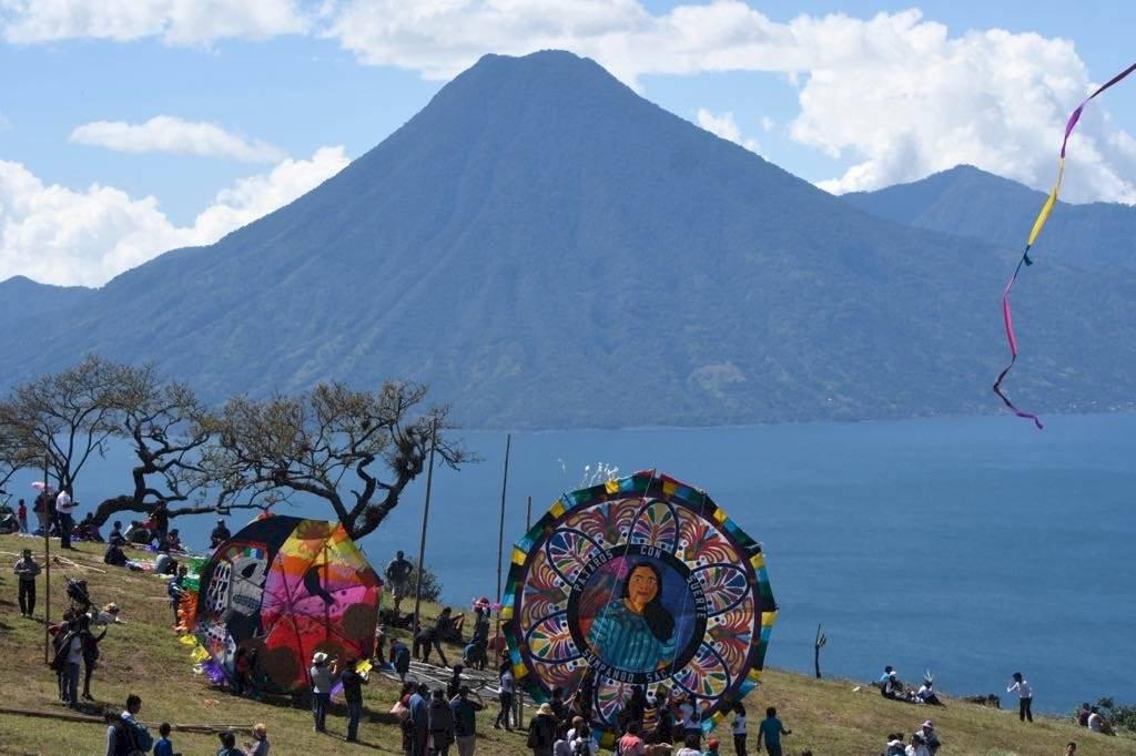Segundo festival consecutivo de barriletes gigantes en Sololá. Foto: Omar Solís