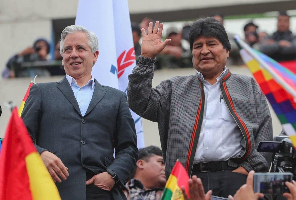Evo Morales y Álvaro García Linera quienes renunciaron al cargo