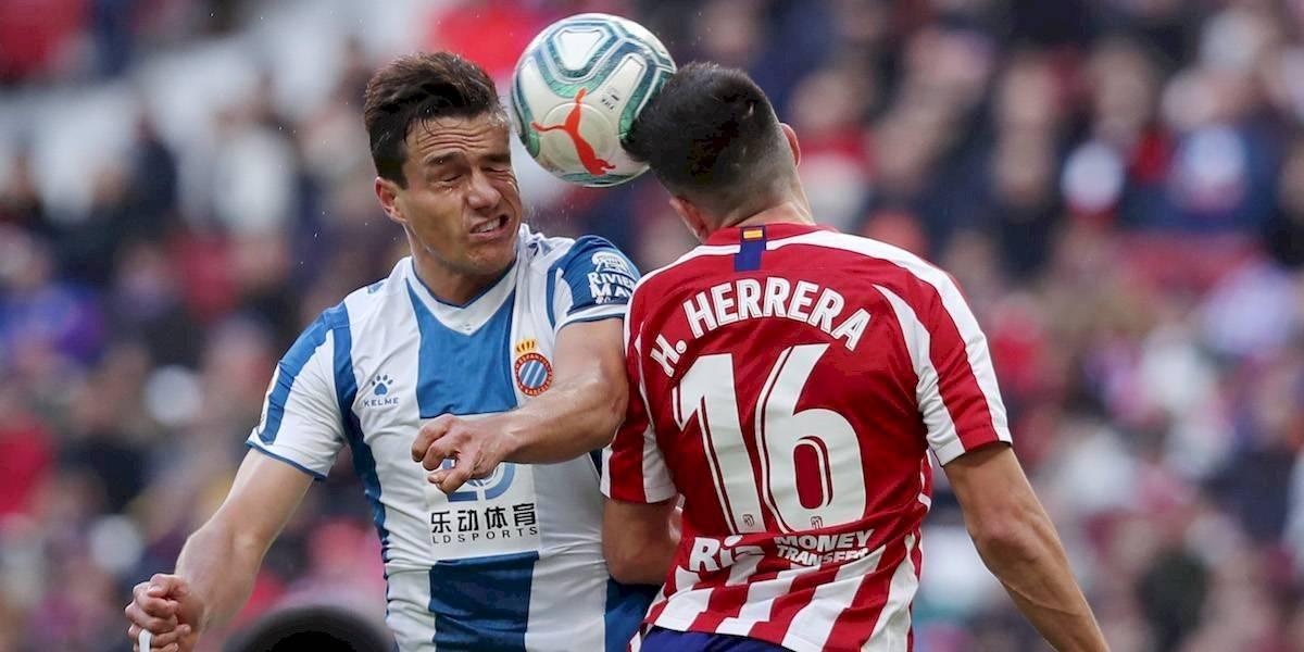 Héctor Herrera y el Atlético de Madrid escalan al tercer puesto de La Liga