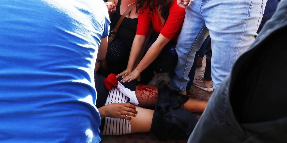 """""""Chaleco amarillo"""" disparó contra manifestantes en Reñaca"""