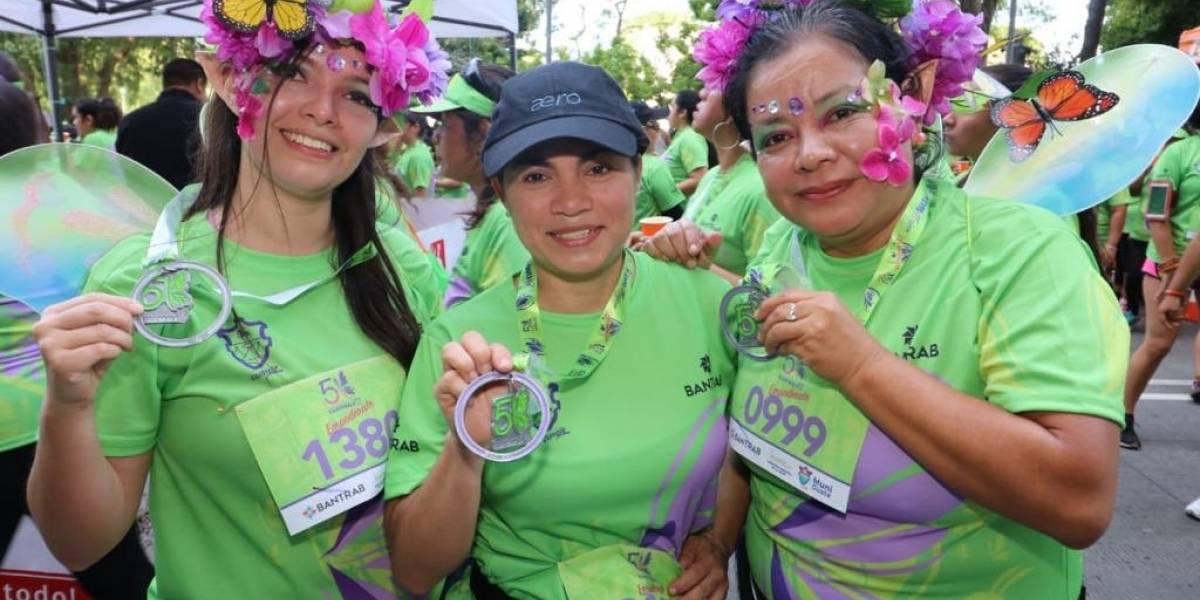 FOTOS. Miles de mujeres entusiastas participan de los 5K de la Municipalidad de Guatemala