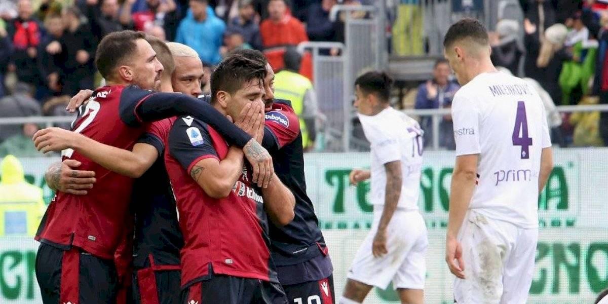 Fiorentina de Erick Pulgar fue goleada por el sorprendente Cagliari y se alejó de la zona de competiciones europeas