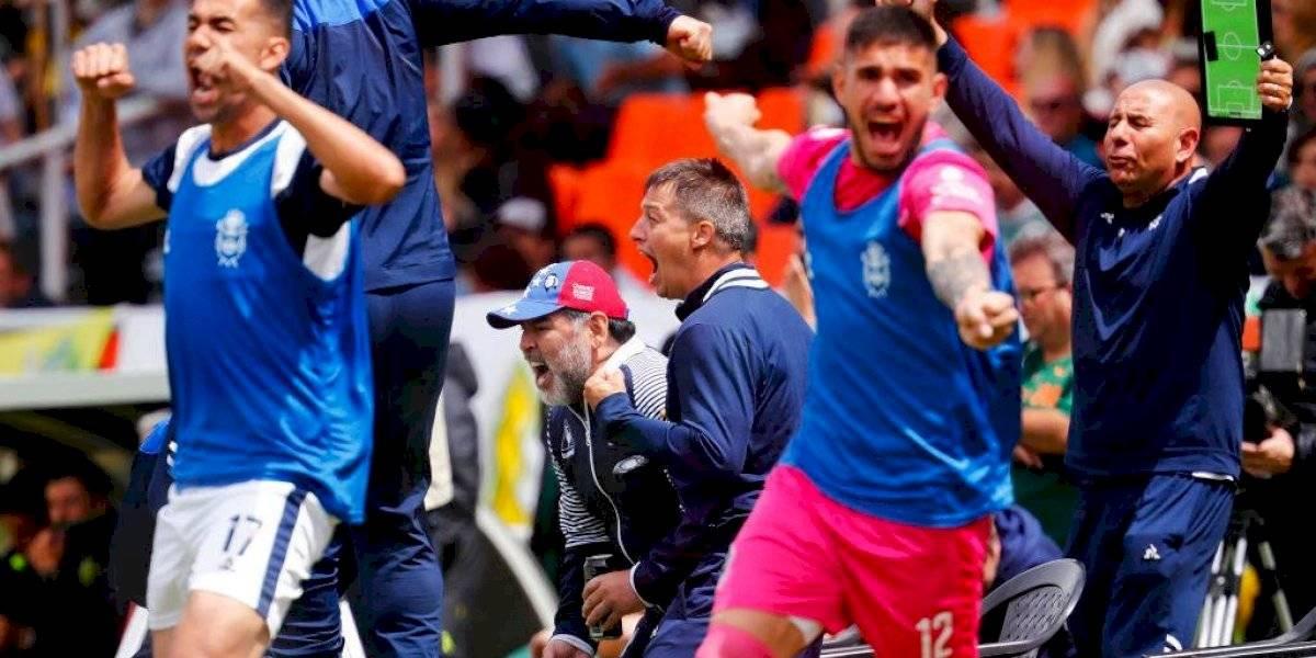 Gimnasia de Maradona goleó al Aldosivi de Hoyos y se ilusiona con abandonar la zona de descenso en Argentina