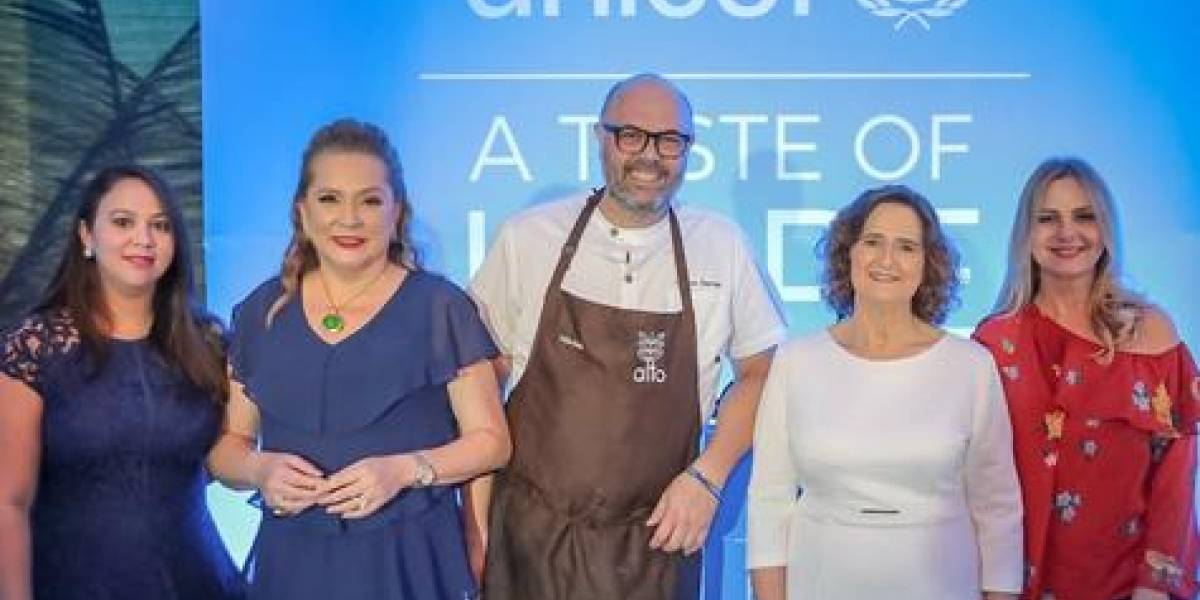 #TeVimosEn: UNICEF realiza primera cena benéfica