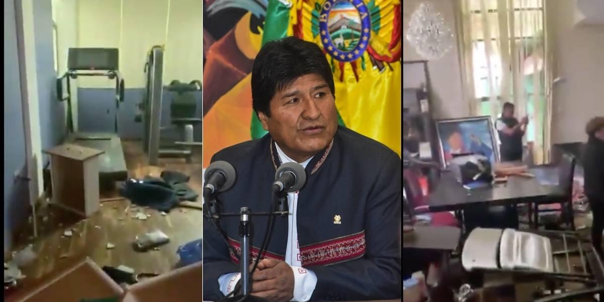 Bolivia: saquearon casa de Evo Morales e incendiaron las de periodistas y dirigentes de la oposición