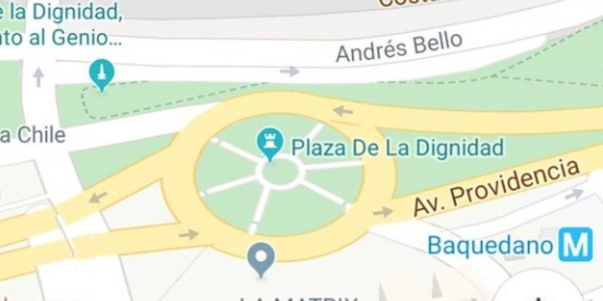 """""""Bienvenida seas, Plaza de la Dignidad"""": tuiteros celebran cambio de nombre  """"virtual"""" de Plaza Italia"""