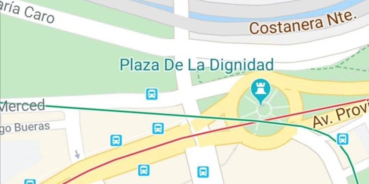 """""""Plaza de la Dignidad"""": nuevo nombre de """"Plaza Italia"""" en Google Maps crea debate"""