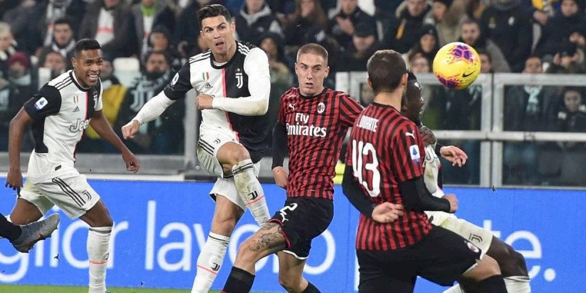 Cristiano Ronaldo otra vez fue sustituido por Dybala y armó un show en el clásico ante AC Milan