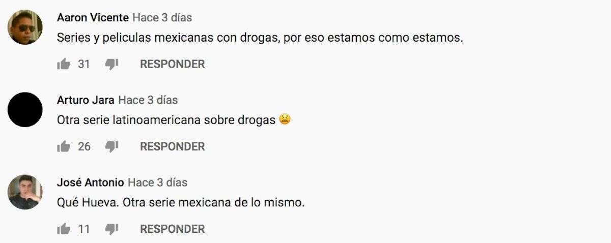 Comentario de youtube