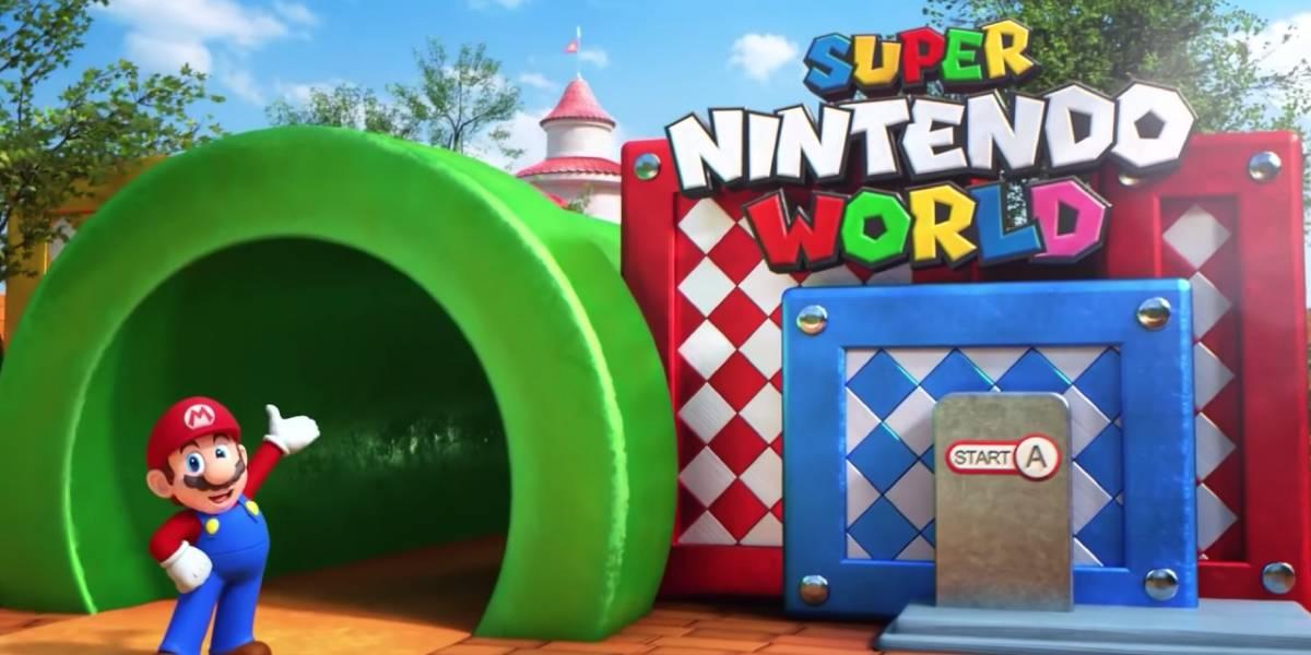 Se filtran fotografías del Super Nintendo World en Japón