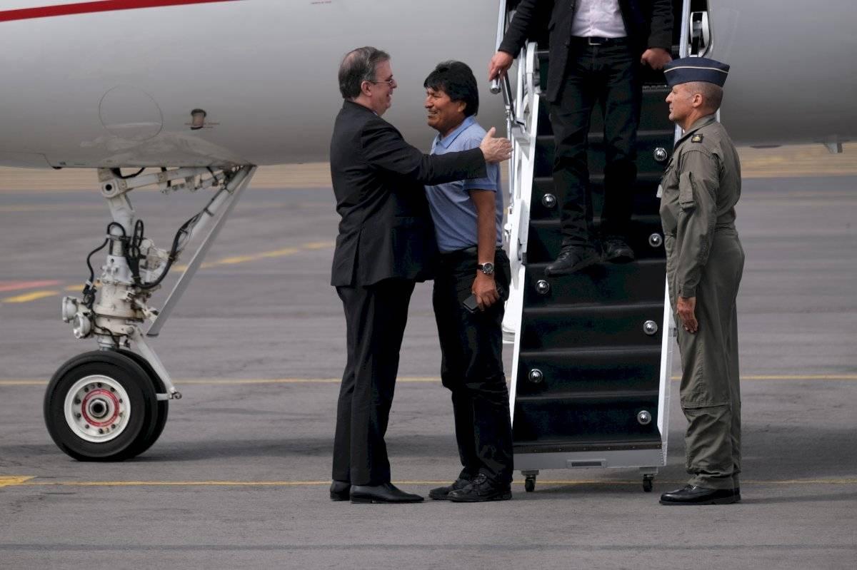 Evo Morales y Marcelo Ebrard