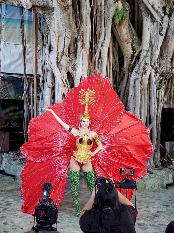 ¡Qué bella! El traje típico de Puerto Rico para Miss