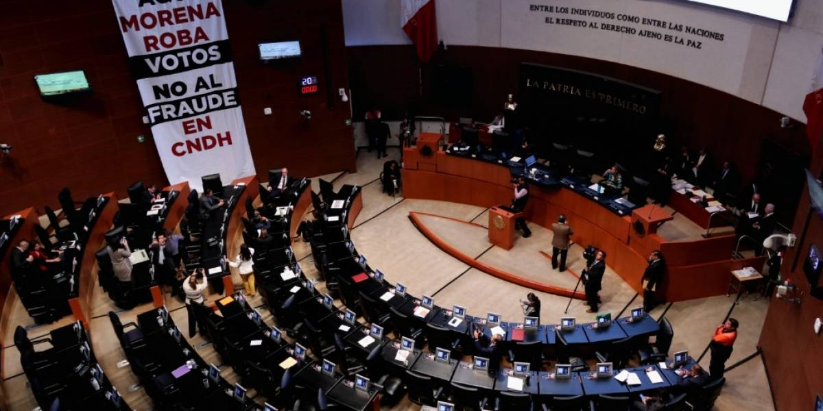 Rechaza Senado reponer elección para presidente de la CNDH