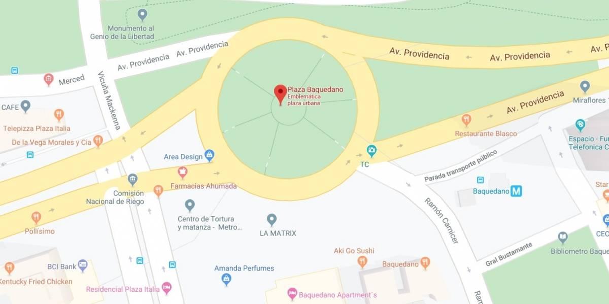 Y qué pasó con la Plaza de la Dignidad: Google Maps corrige cambio de nombre de Plaza Baquedano