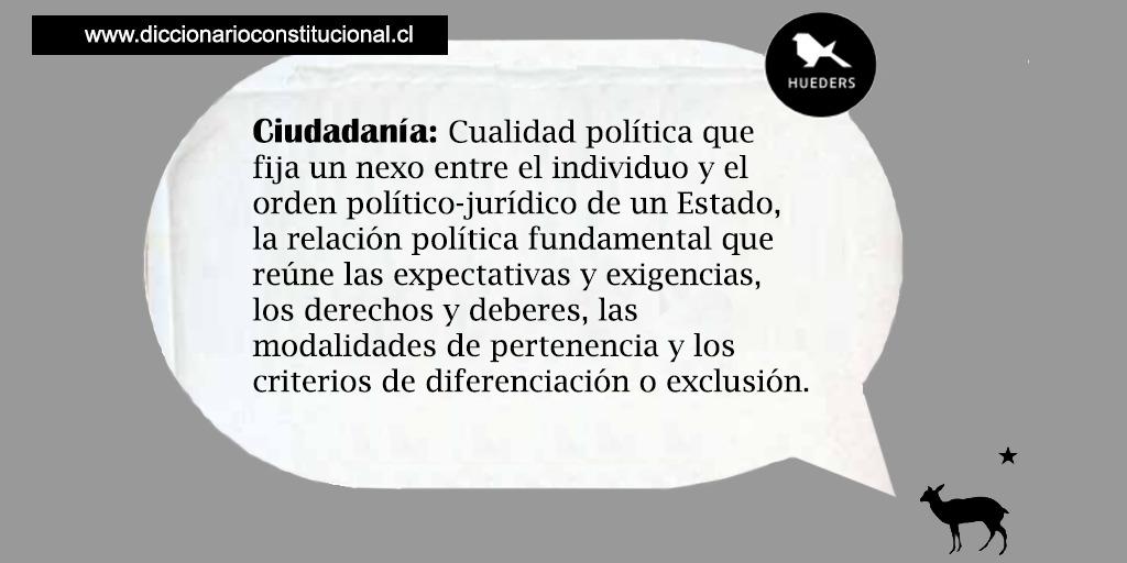 Ciudadanía Diccionario Constitucional