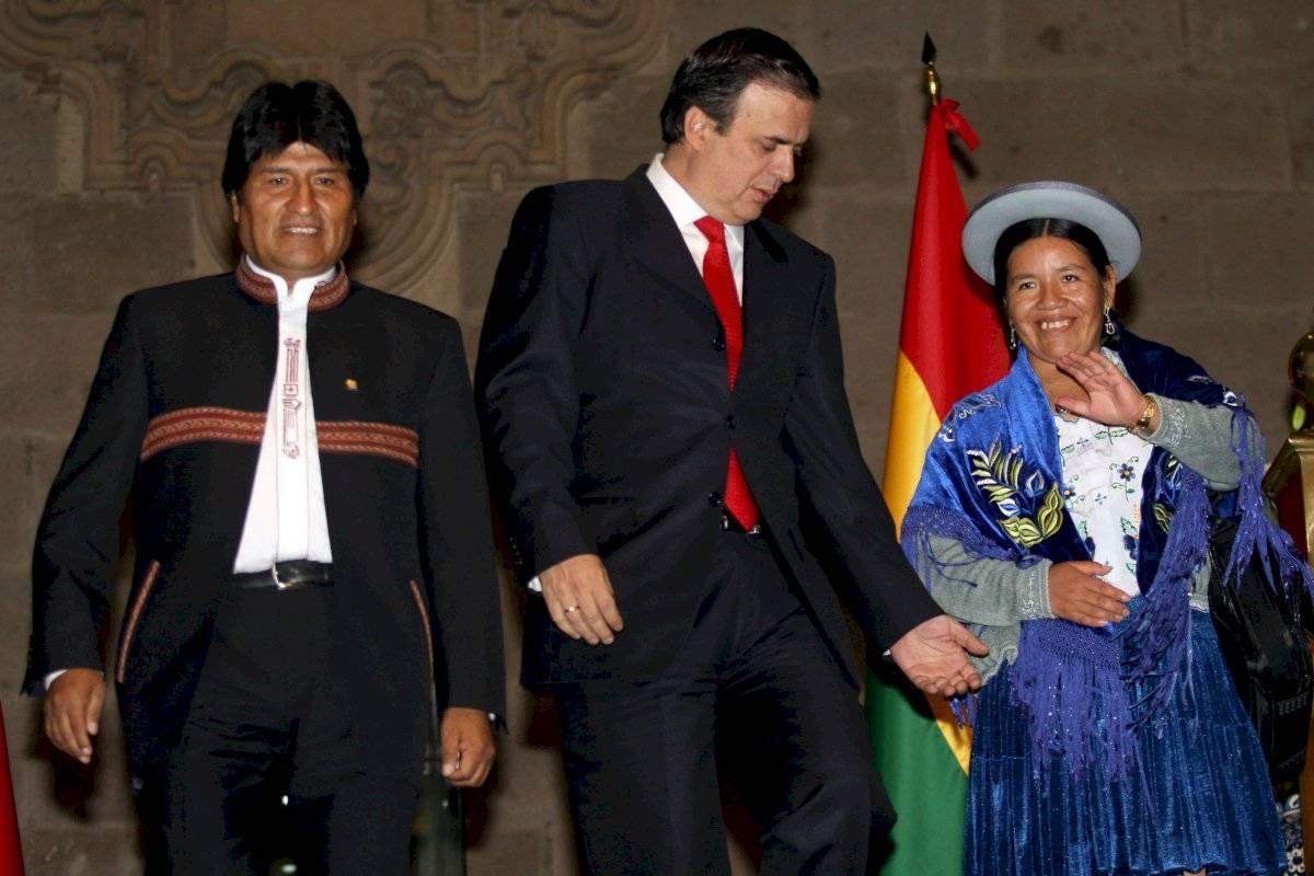 En 2010, Marcelo Ebrard Casaubón, Jefe de gobierno Capitalino, recibió a Morales durante su visita no oficial que realizó a la Ciudad donde desarrollo diversas actividades.