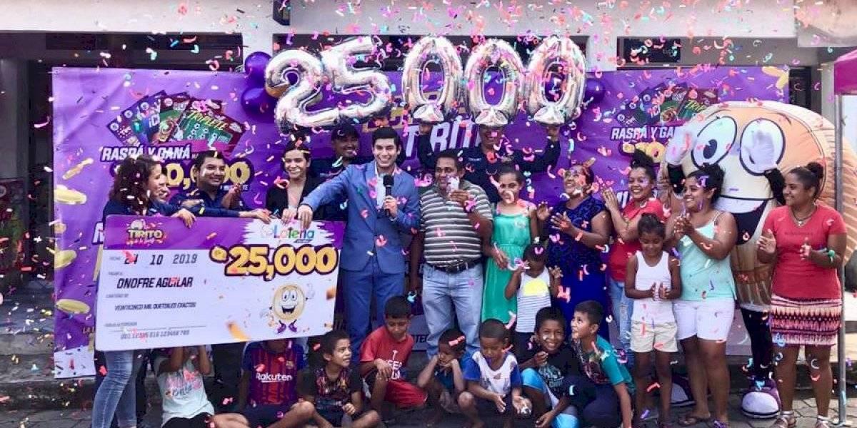 ¡Tirito de la Suerte premia a cuatro ganadores de Q25 mil esta semana!
