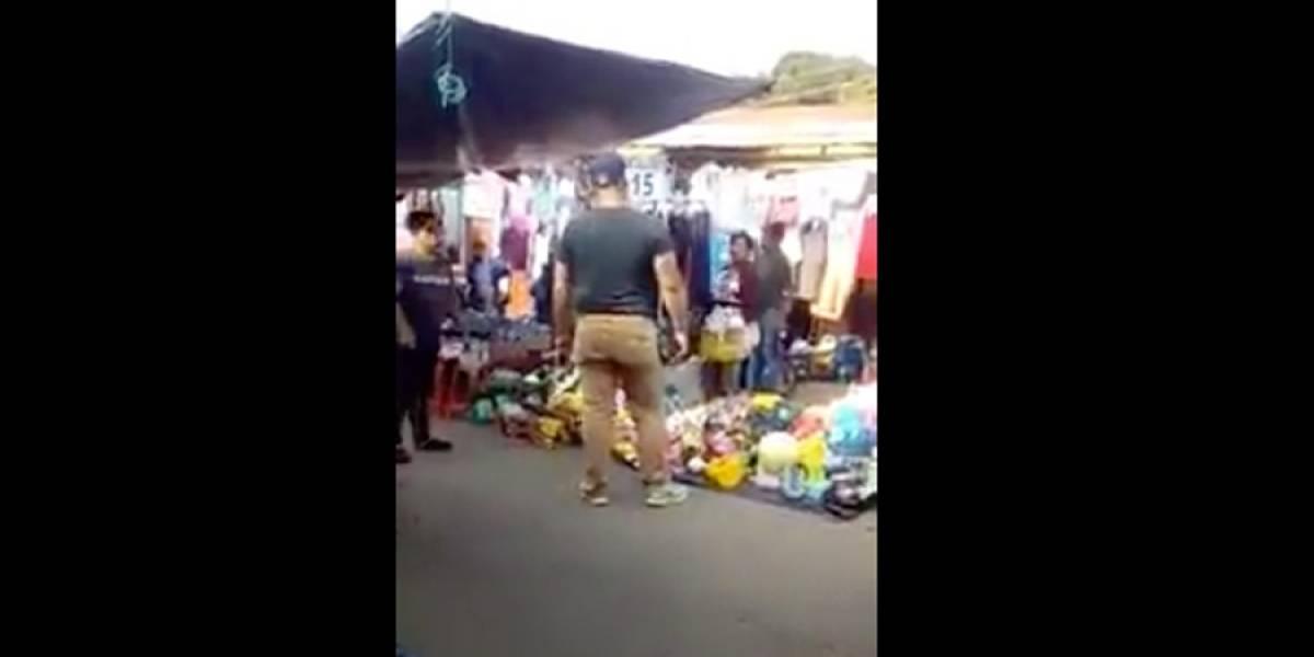 Tras video de hombre violento en mercado, Fiscalía inicia investigación