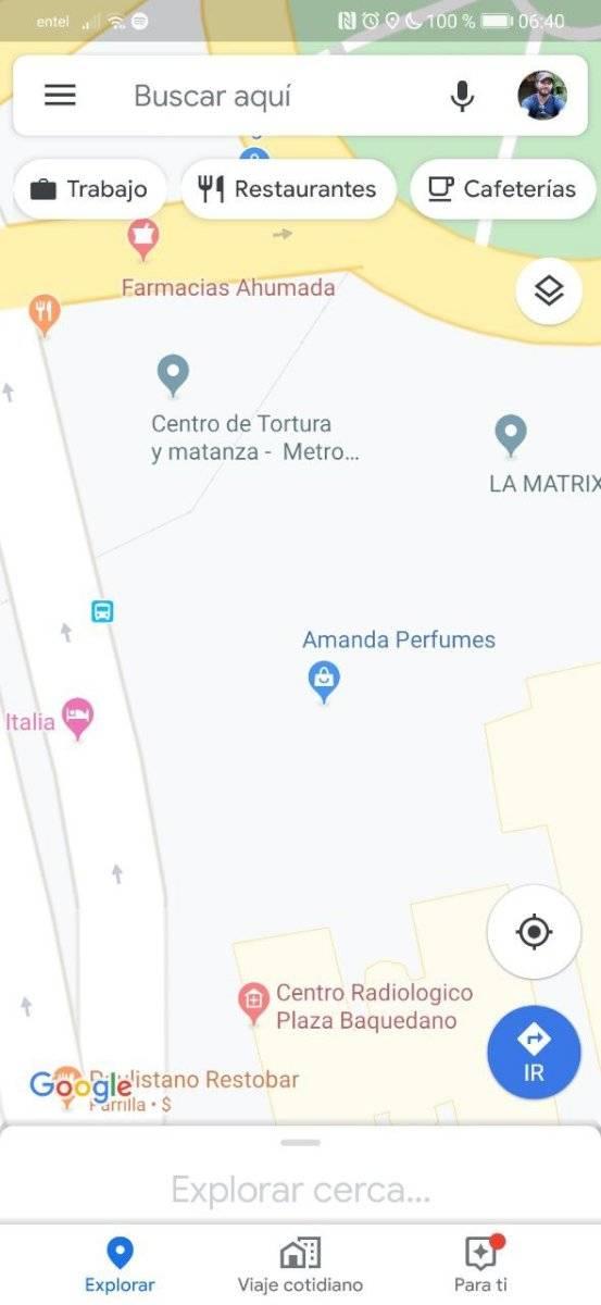 Centro de Torturas Google Maps