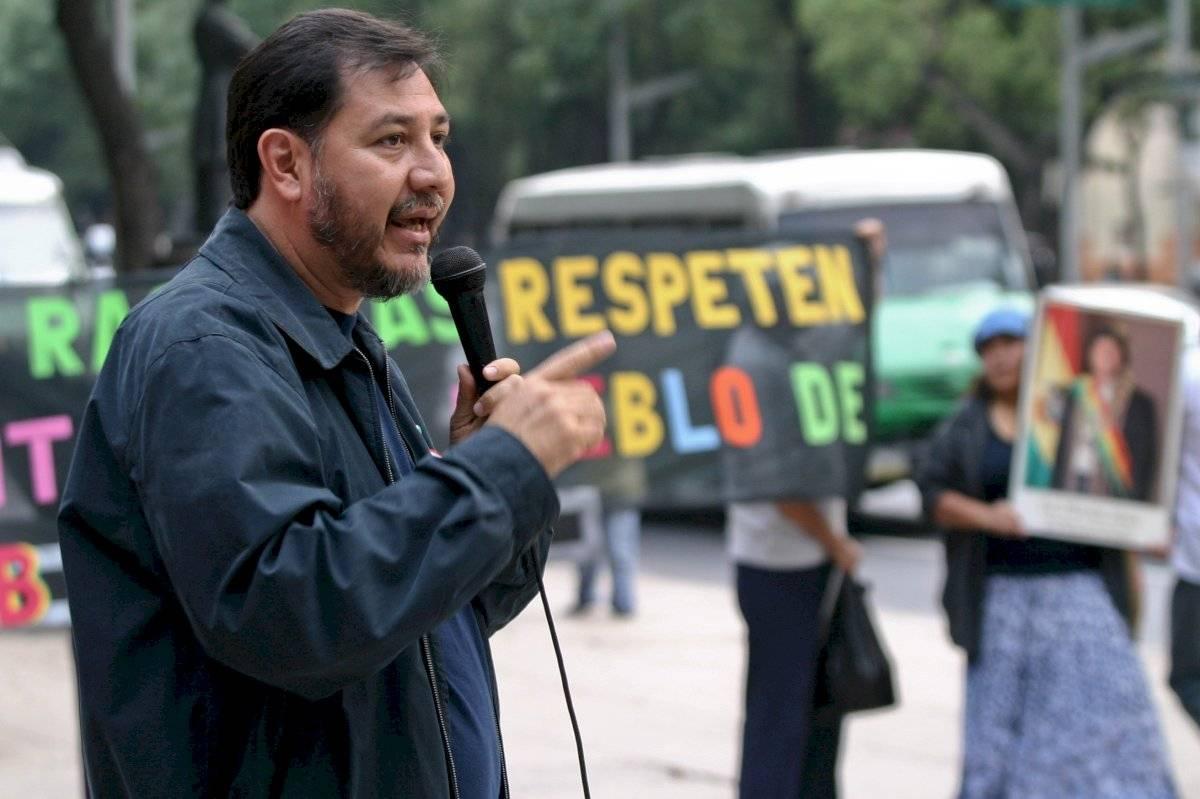 En septiembre de 2008, activistas protestaron frente a la embajada de Estados Unidos en México por el retiro del embajador estadounidense en Bolivia