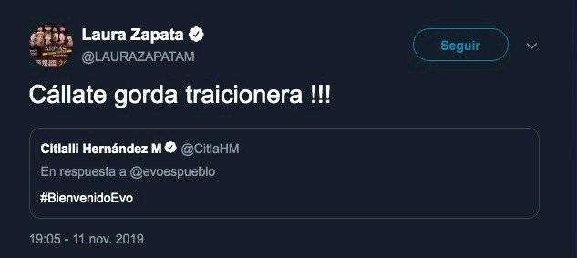 Tuit Laura Zapata