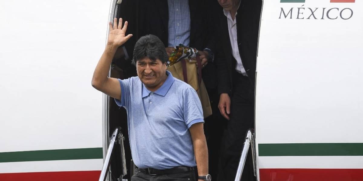 """Evo Morales al llegar a México: """"López Obrador me salvó la vida"""""""