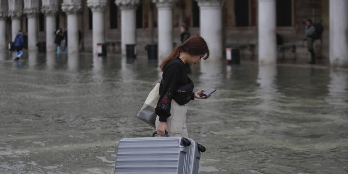 Inundaciones en Venecia se acercan al récord de 1966