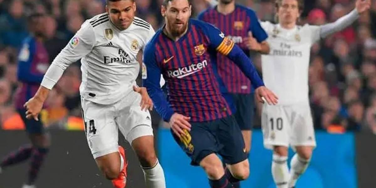 ¡Ya hay hora para el súper duelo entre Barcelona y Real Madrid!