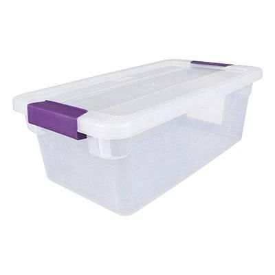 Caja plástico transparente