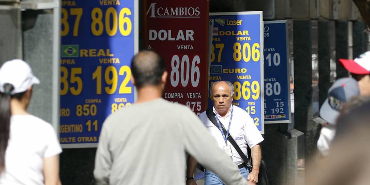 Pese a intervención del Banco Central: dólar se resiste a bajar de los $800