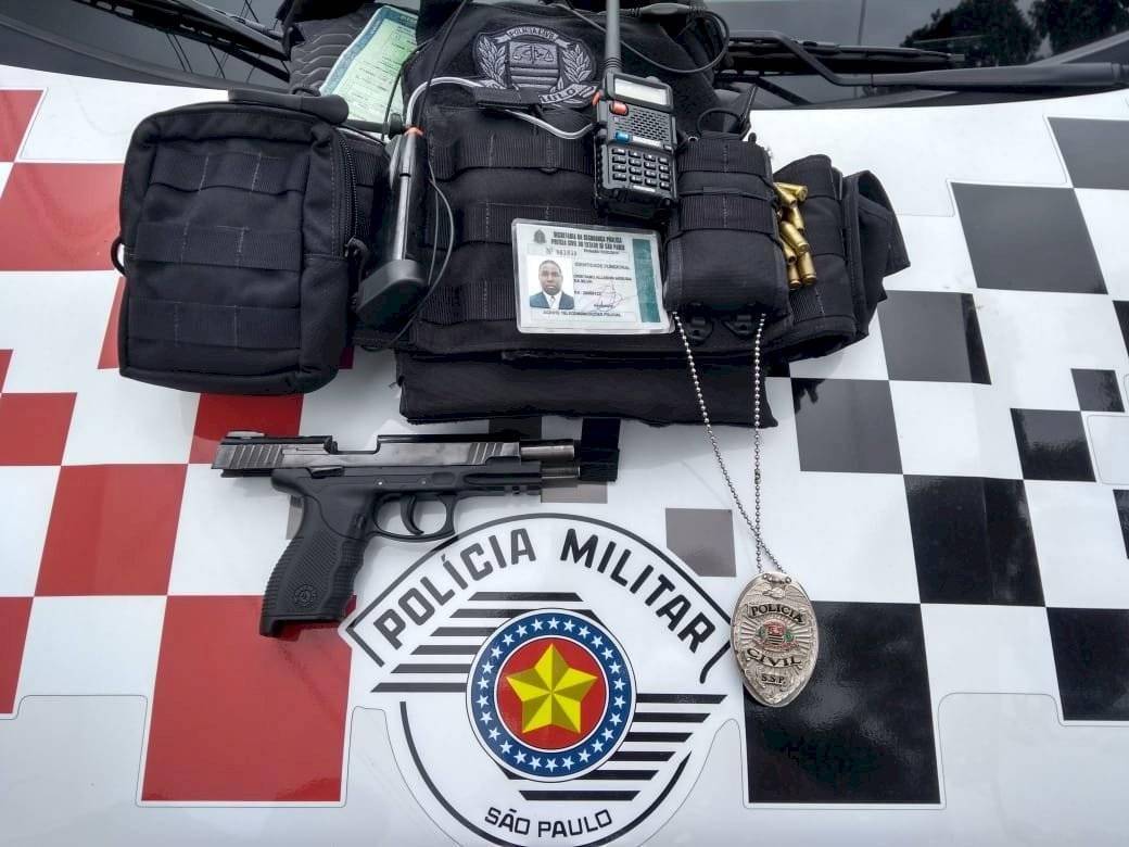 Material apreendido Divulgação/Polícia Militar