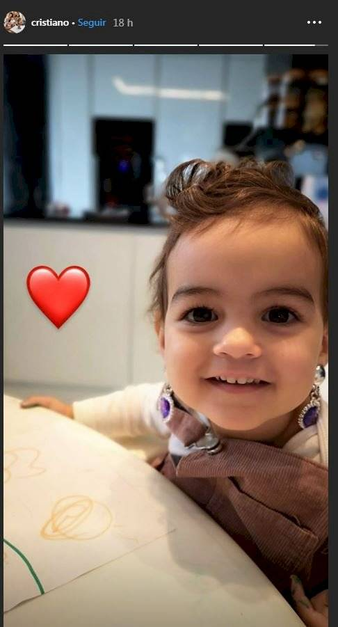 Alana, hija de Cristiano Ronaldo