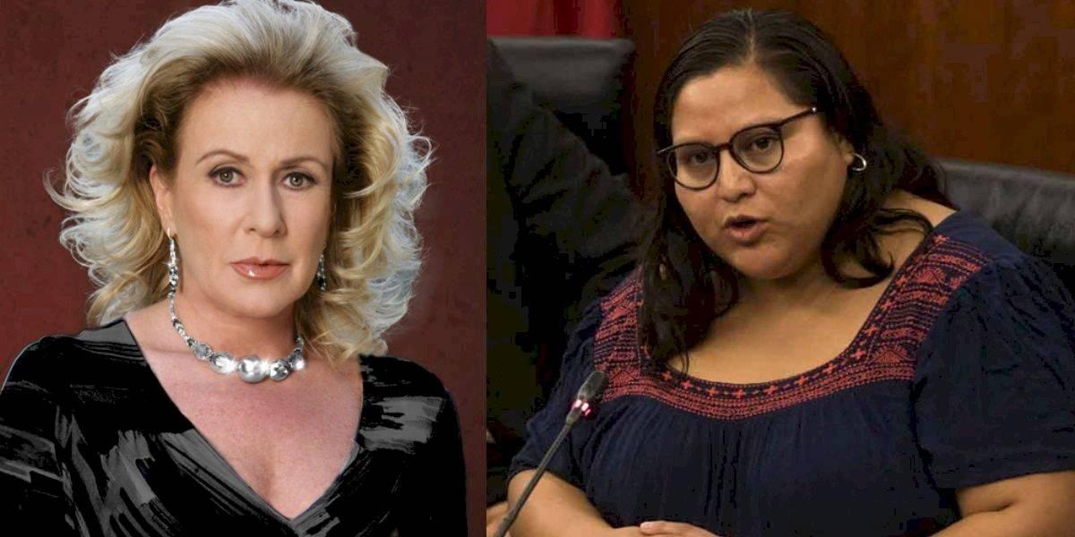 """Laura Zapata llama """"gorda traicionera"""" a senadora mexicana y le llueven críticas"""