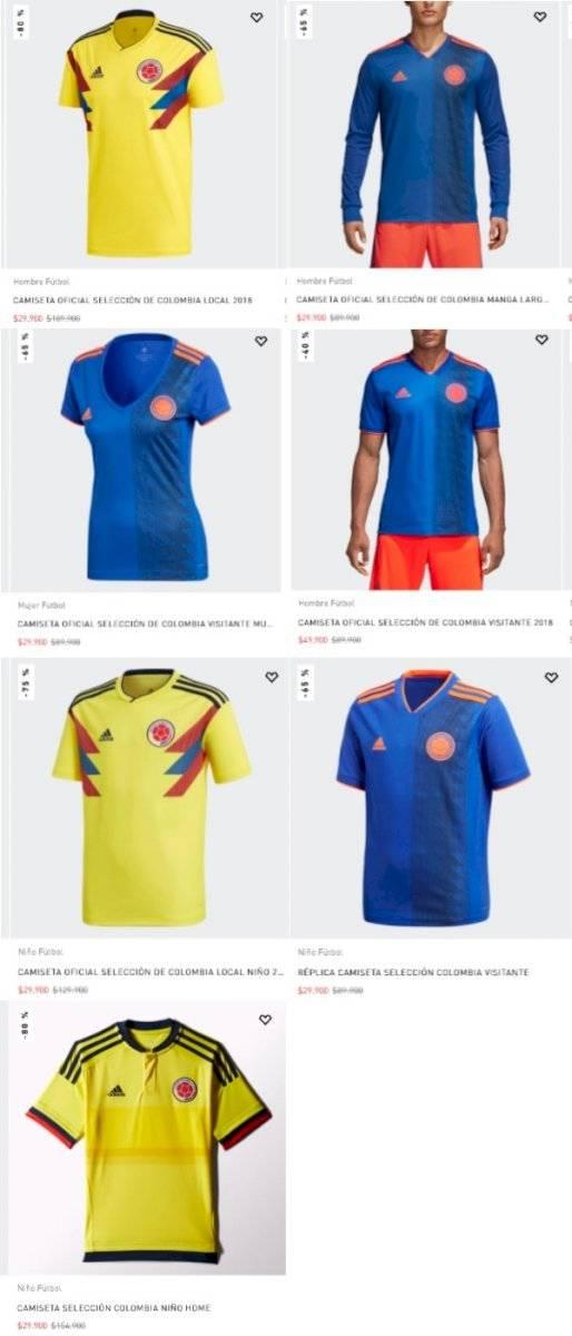 Promociones camisetas Colombia 2018