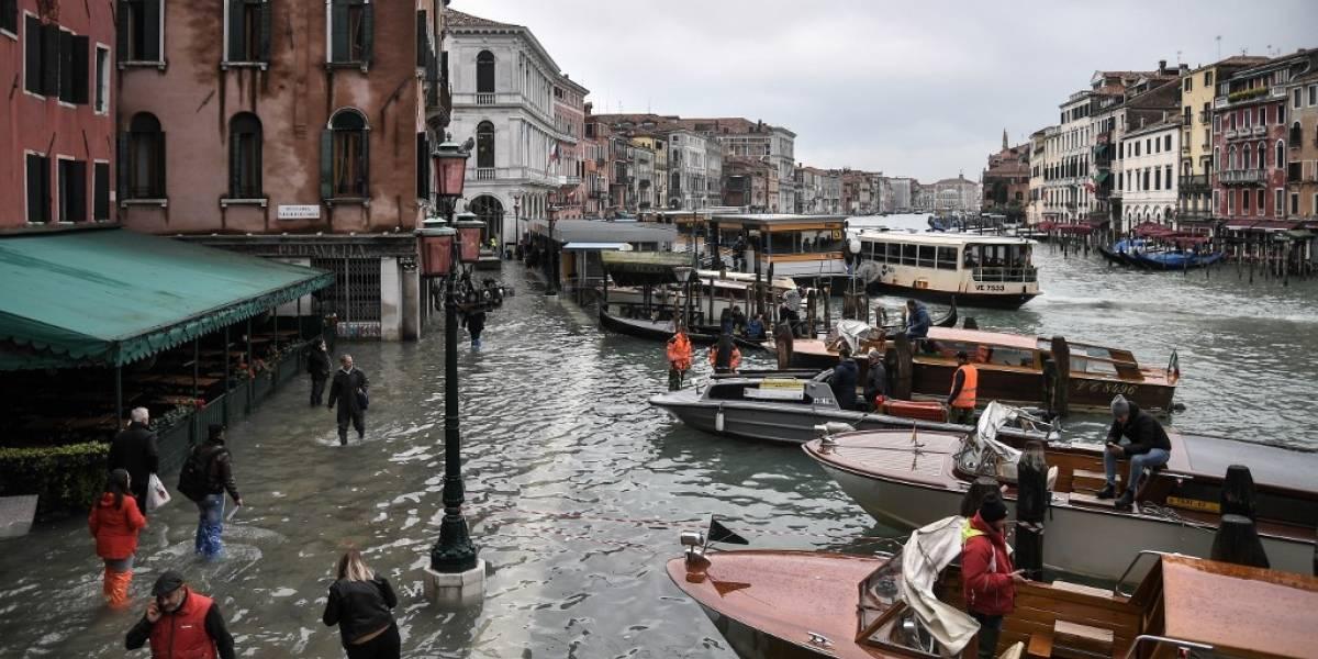 """VIDEO. """"Desastre apocalíptico"""": Venecia es afectada por marea alta histórica"""