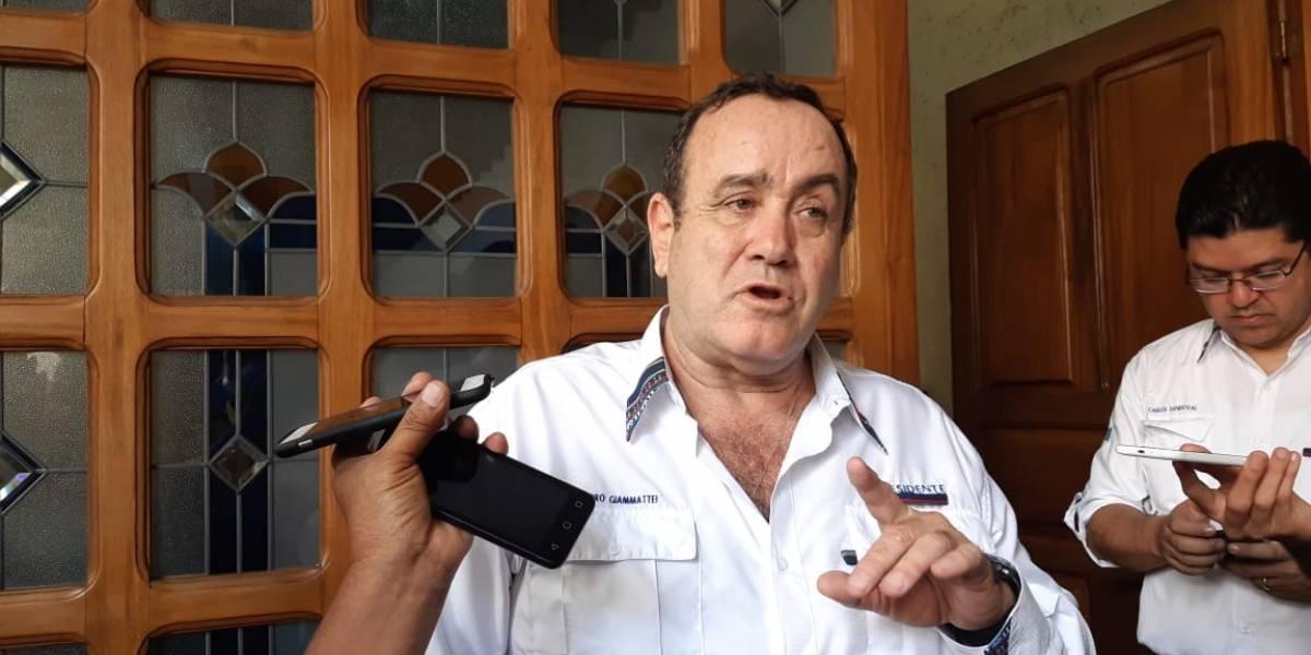 """Giammattei: """"Yo que el presidente Morales lo que hacía era vetarla"""""""